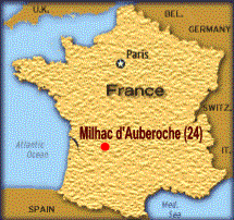 Situation de Milhac d'Auberoche en France